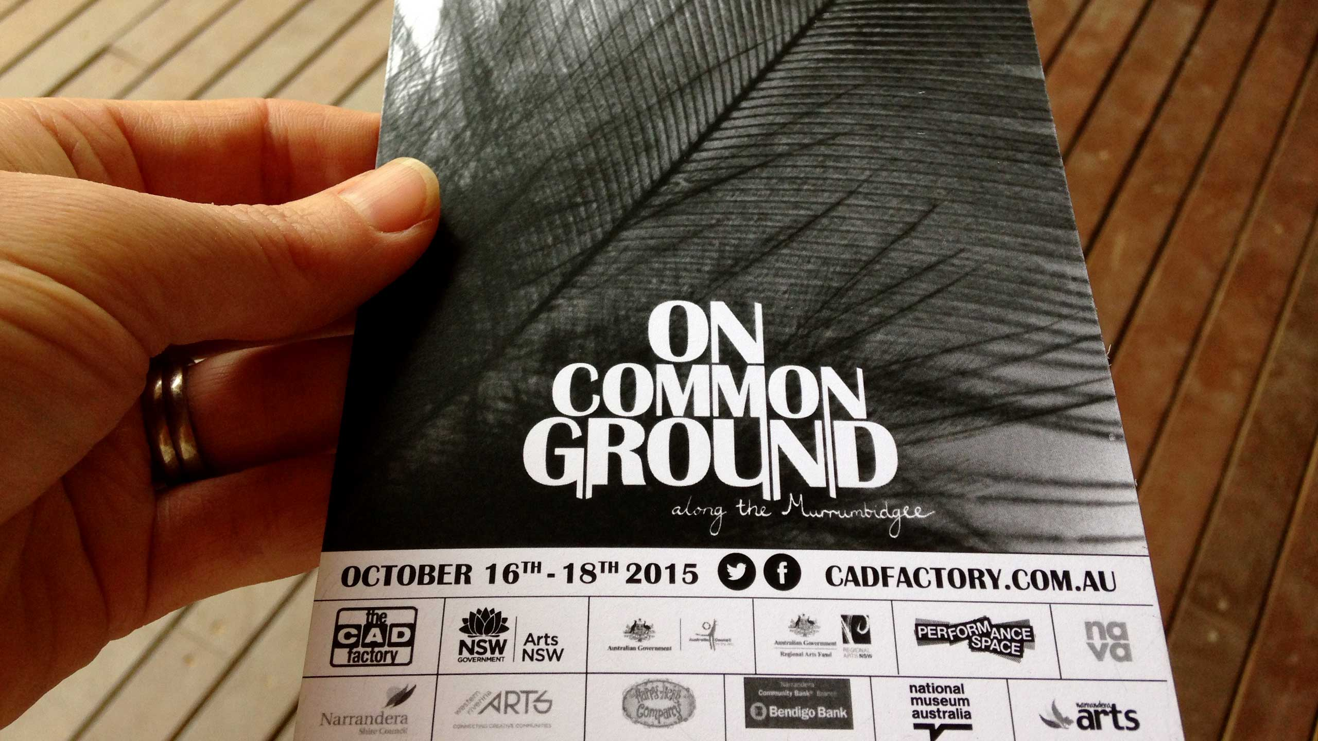 On Common Ground festival postcard